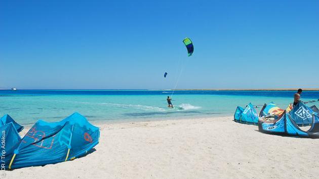 super spot de kite en mer rouge