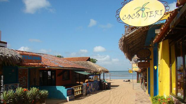 le village de Jericoacoara paradis du kite au Brésil