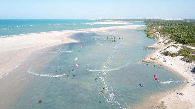 le spot de kite de Patos vue aérienne