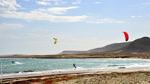 vacances kite au Cap Vert