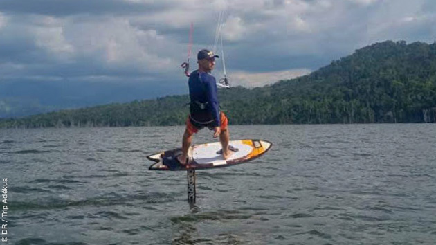 stage de kite foil en Colombie sur les lacs intérieurs