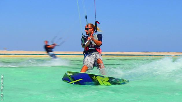 conditions parfaites en mer Rouge pour le kite à la Toussaint