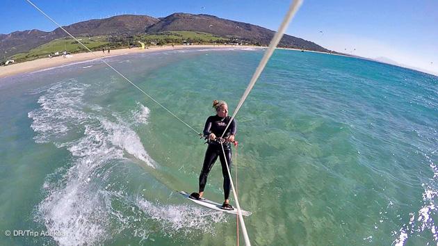 cours de kite à Tarifa avec une pro