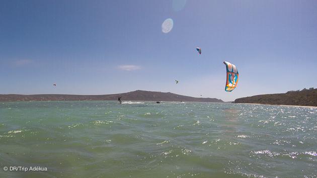 bon spot de kitesurf dans la région de Cape Town