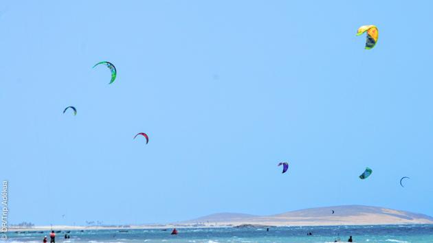 le spot de kite de jeri ou jericoacoara au Brésil