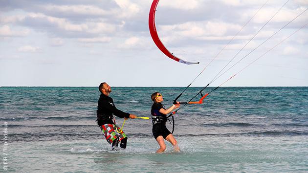 Des cours de kite pour débutant pendant ce séjour à Cayo Coco