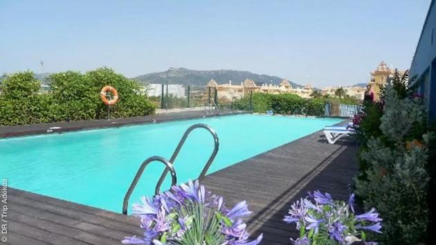 Votre hébergement pendant ce stage kite, dans une résidence à deux pas des spots de Tarifa, et avec piscine