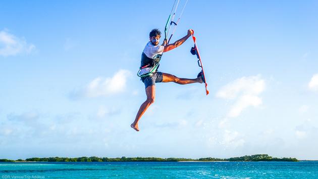 Votre séjour kitesurf sur un bateau de croisière à Los Roques