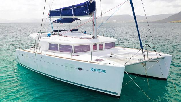 Votre hébergement tout confort en catamaran Lagoon 400