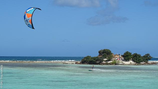 spot secret de kite uniquement accessible en bateau