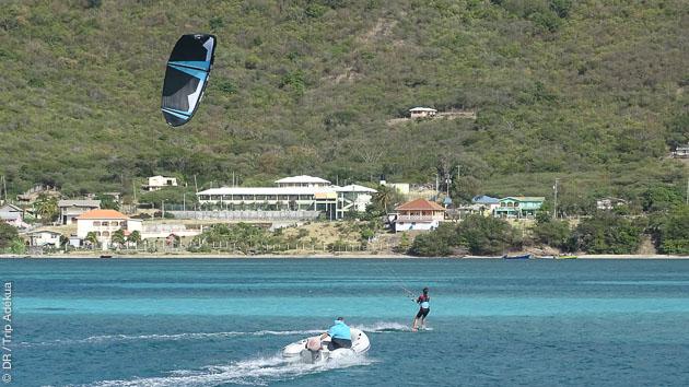 cours de kite pendant ma croisière aux Antilles