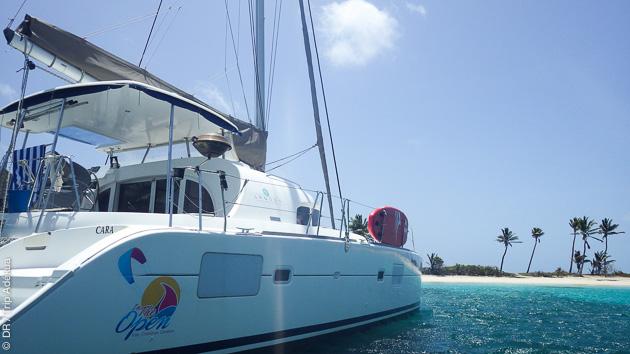 le bateau parfait pour une croisière kite aux Antilles