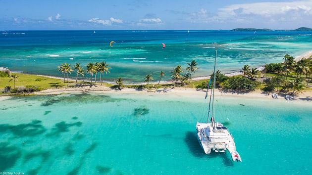 Les plus beaux spots des Grenadines pour votre séjour kite