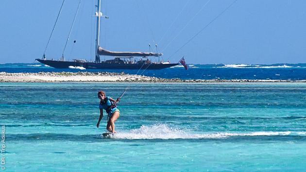 catamaran et kite à Antigua