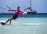 Votre trip kite coaching de 4 jours en catamaran luxe sur l'île de Seco - voyages adékua