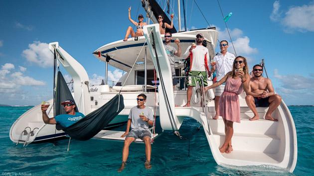 Votre kitesurf trip en catamaran aux Grenadines