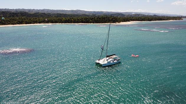 Des vacances kite sur un catamaran en République Dominicaine