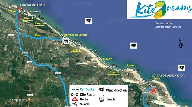 Un séjour kitesurf fast downwind inoubliable au Brésil