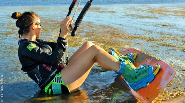 Coaching kitesurf pour progresser entre filles, au Brésil
