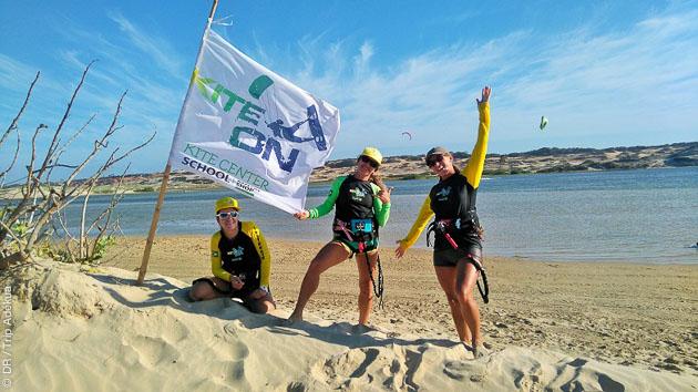 Kitesurf entre filles à Lagoinha en septembre