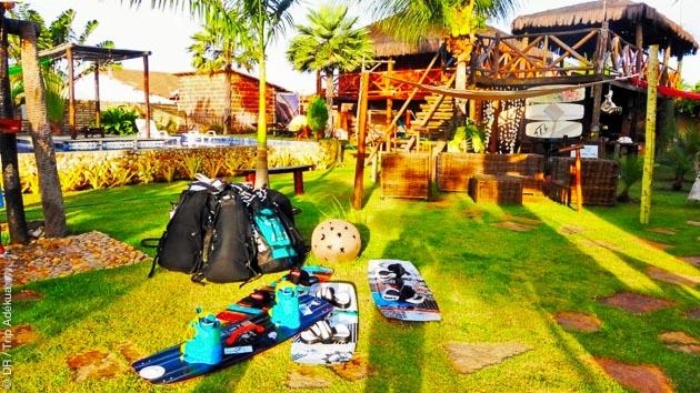 10 jours en pousada avec coaching kitesurf et stretching à Lagoinha