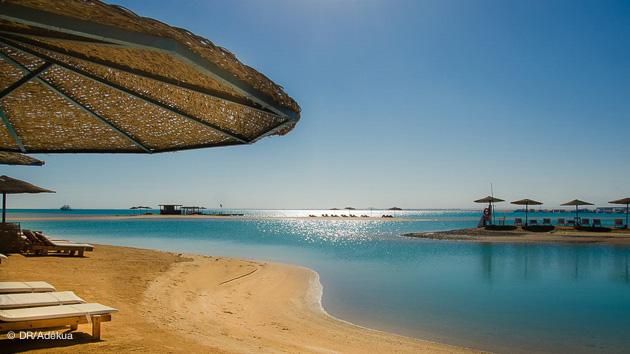 depuis votre hôtel le spot de kite surf de El Gouna en Egypte