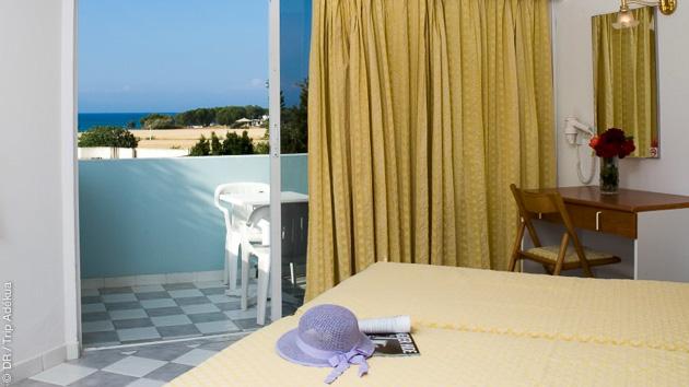votre chambre d'hotel près du spot de kitesurf à Rhodes