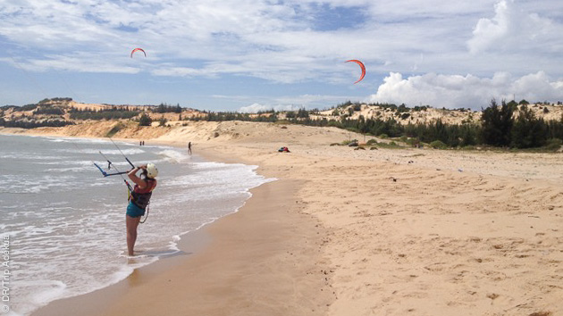 le spot de kite de MuiNe au Vitenam