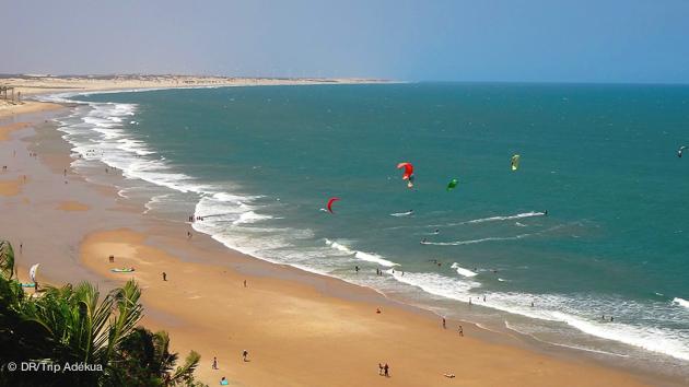 le spot en mer de kite de Lagoinha au Brésil