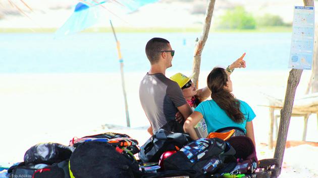 Super conditions de vent à Lagoinha, sur la lagune de Jegue pour ce coaching kitesurf