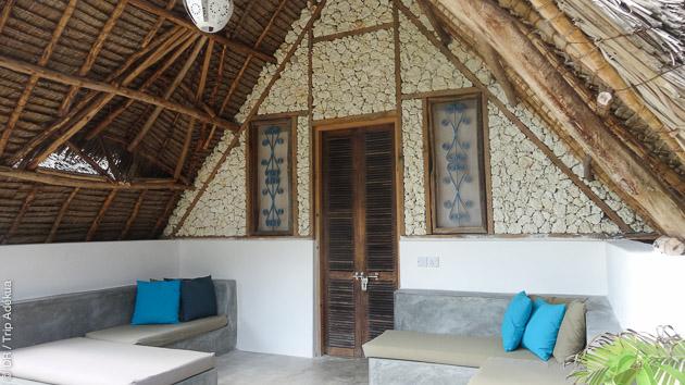 Relaxation garantie entre vos cours de kite dans votre bungalow, à Jambiani, Zanzibar