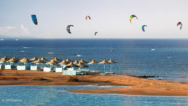 le spot de kite del gouna en face de votre hotel club