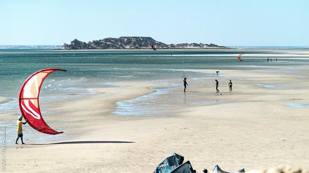 Sur la lagune de Dakhla, vous profitez de vos sessions kite en toute sérénité