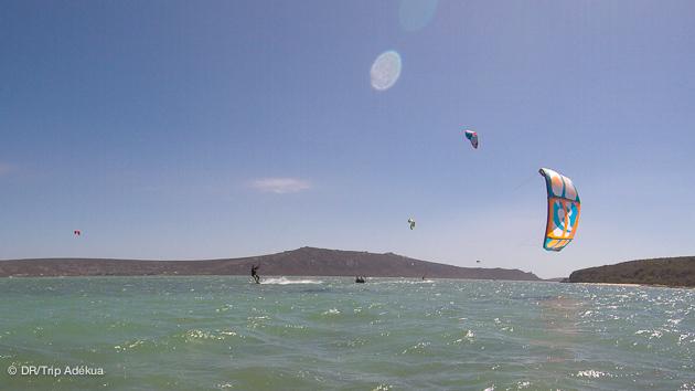 très belles conditions pour progresser en kite en Afrique du sud
