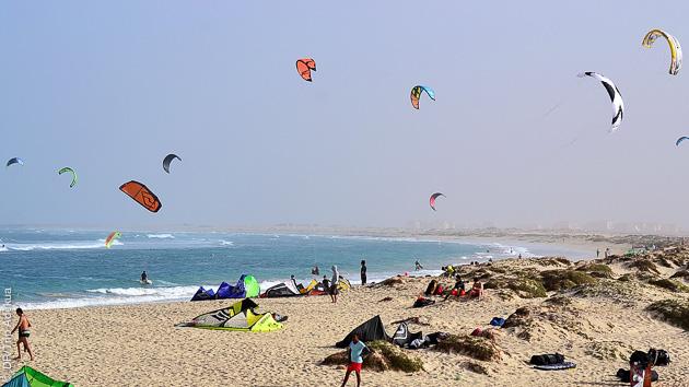 Un séjour kite avec location de matos, sur l'île de Sal, spot de Kite beach