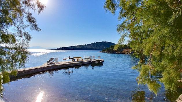 Séjour kitesurf grand luxe sur une île privée en Grèce, avec hébergement, cours et matériel