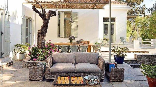 Séjour kite et détente dans une villa, sur une ile privée des Cyclades