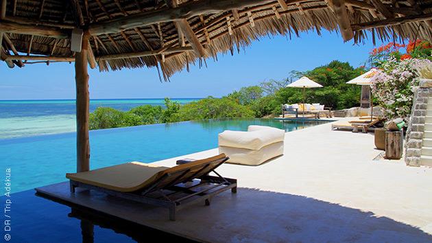 Un hôtel de luxe vous accueille pour vous détendre entre vos sessions de kitesurf à Zanzibar