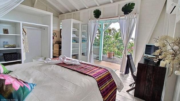 Un bungalow tout confort face à la mer en Guadeloupe