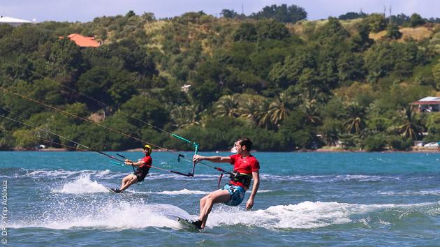 Le spot parfait en Martinique pour progresser en kite