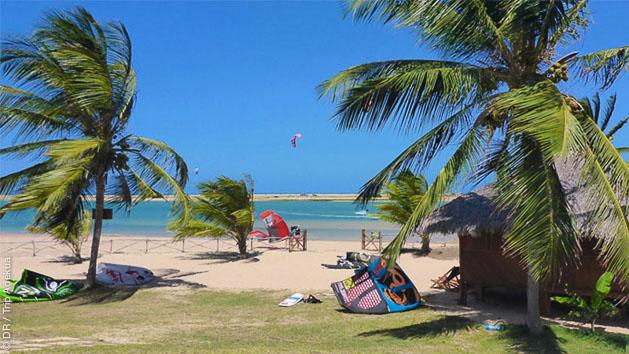 Un spot de rêve pour progresser en kite au Brésil