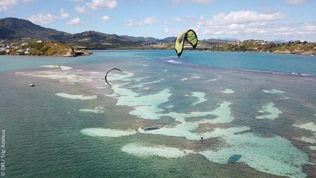 Venez progresser en kite sur un lagon de rêve en Martinique