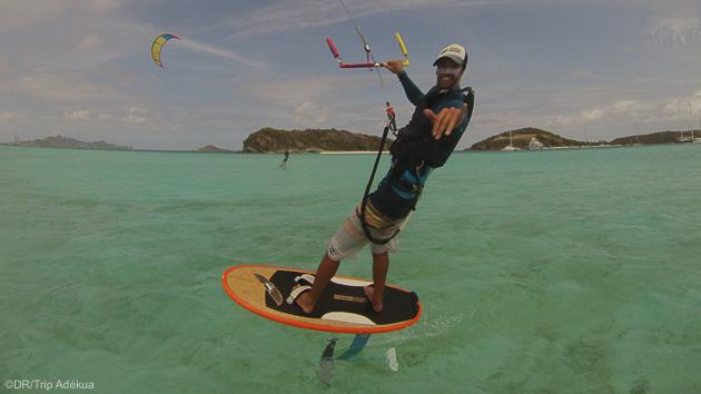 Découvrez le kitefoil pendant votre séjour aux Antilles sur l'île de la Martinique