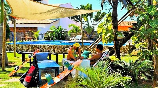 Votre posada tout confort avec piscine sur le spot de kite de Lagoinha