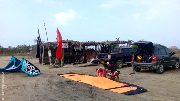 le kite camp de Santa Veronica en Colombie
