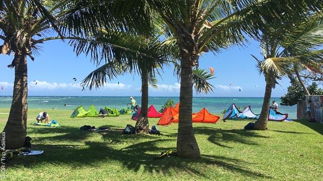 Pendant votre séjour kite, vous êtes hébergés face aux spots de Nouvelle Calédonie