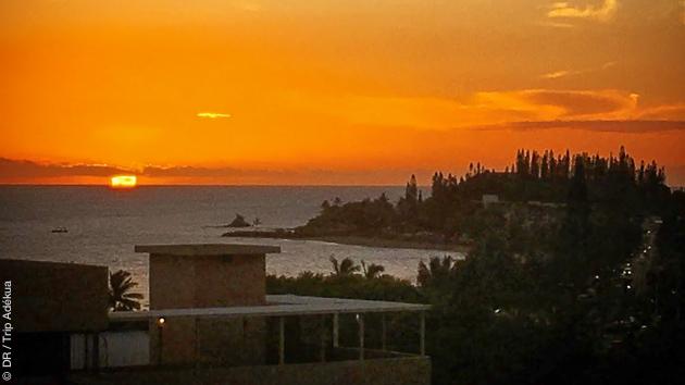 Votre logement situé sur l'Anse Vata à Nouméa, un coucher de soleil magique après vos sessions kite