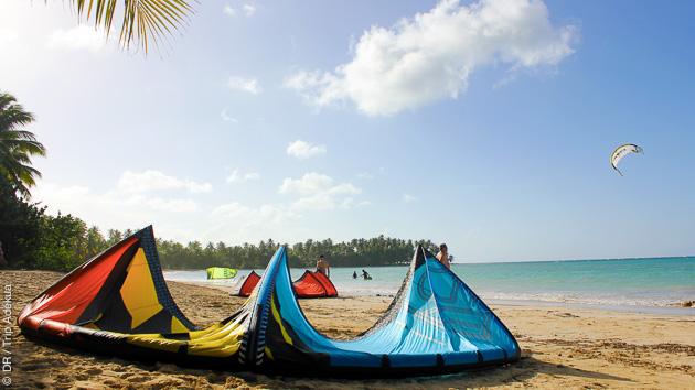 kite de rêve à Las Terranas, un de meilleurs spots