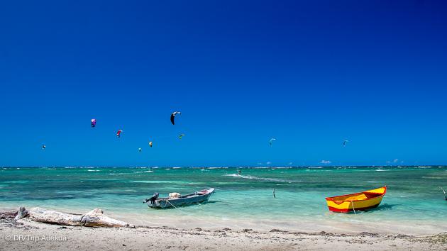 spot de kitesurf de fou en republique dominicaine