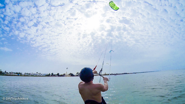 session de kite surf à Djerba